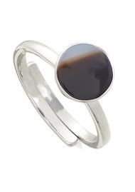 SVP Starman Adjustable Ring - Silver & Stripe Black Onyx