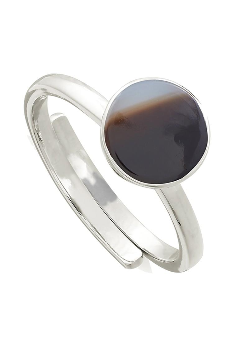 SVP Starman Adjustable Ring - Silver & Stripe Black Onyx main image