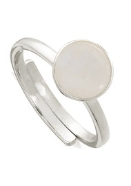 SVP Starman Adjustable Ring - Silver & Rainbow Moonstone