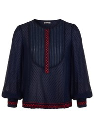 PK BERRY Marisol Blouse - Navy