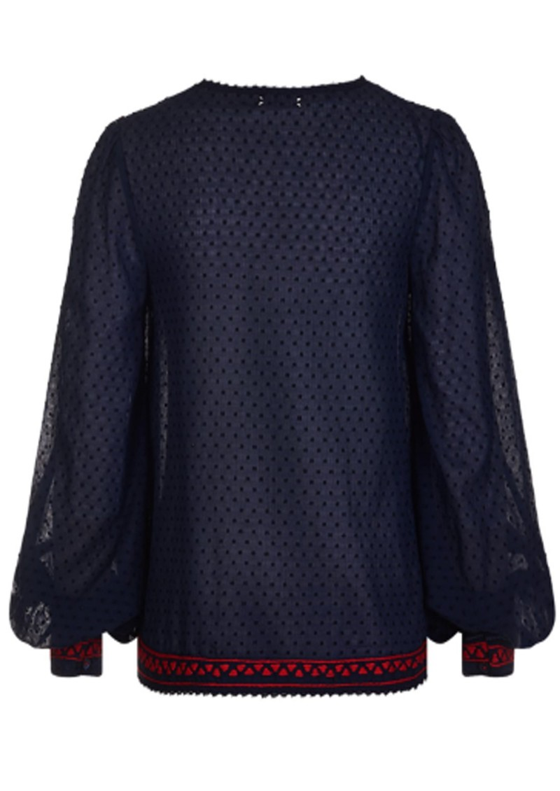 PK BERRY Marisol Blouse - Navy main image