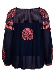 PK BERRY Saskia Blouse - Navy