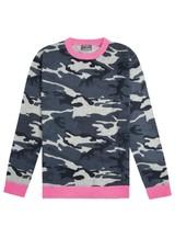 411517a9304 ORWELL + AUSTEN Camo Jumper - Blue   Neon Pink