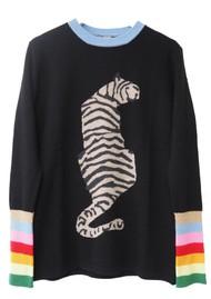 ORWELL + AUSTEN Tiger Sweater - Black & Rainbow