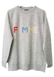 ORWELL + AUSTEN Femme Sweater - Grey Pastel
