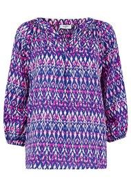 Mercy Delta Clevedon Silk Blouse - Ikat Primrose
