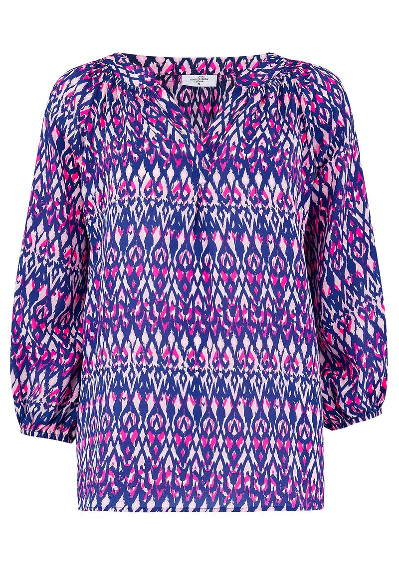 Mercy Delta Clevedon Silk Blouse - Ikat Primrose main image