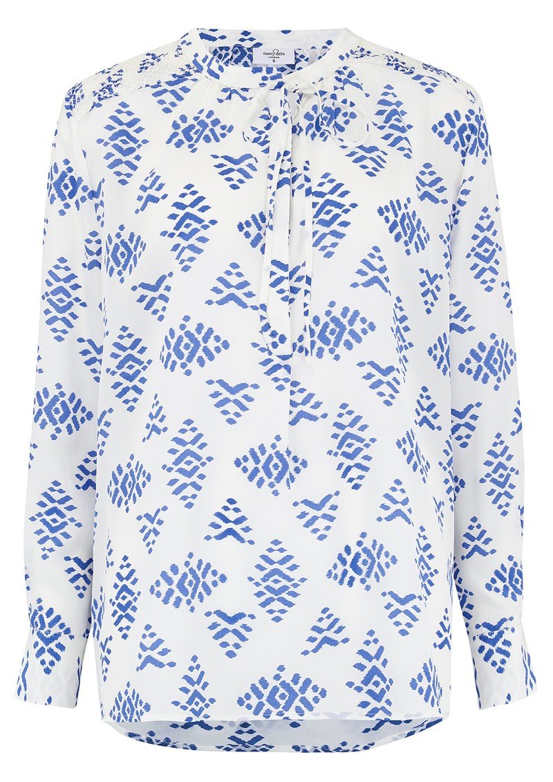 Mercy Delta Stowe Silk Blouse - Ponca Bluebell main image