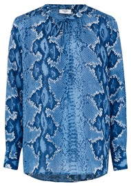 Mercy Delta Stowe Python Blouse - Bluebell