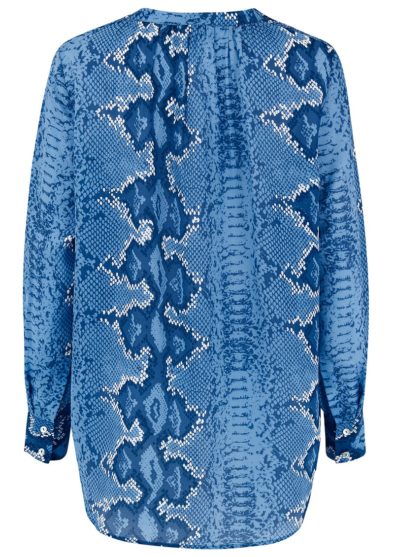 Mercy Delta Stowe Python Blouse - Bluebell main image