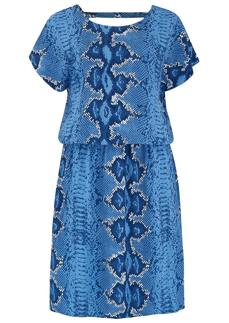 Mercy Delta Hembury  Dress - Python Bluebell main image
