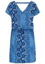 Mercy Delta Hembury  Dress - Python Bluebell