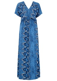 Mercy Delta Mansfield Dress - Python Bluebell