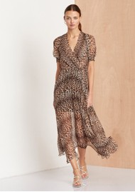 BEC & BRIDGE Kitty Kat Midi Dress - Leopard