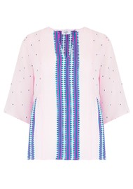 Mercy Delta Bodiam Silk Top - Navajo Bluebell