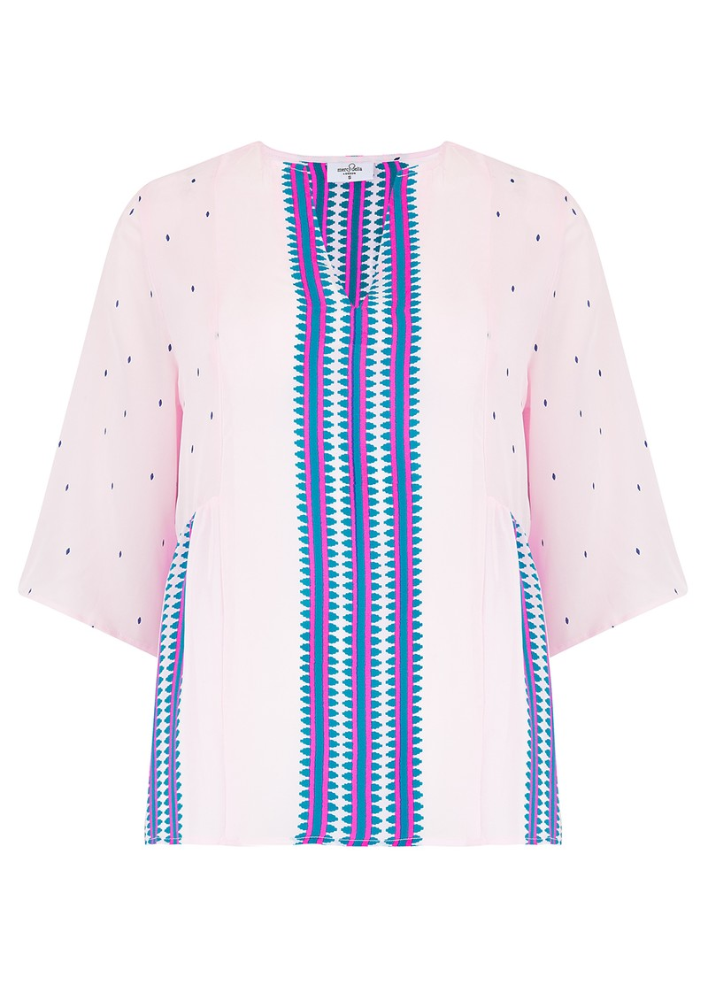 Mercy Delta Bodiam Silk Top - Navajo Bluebell main image