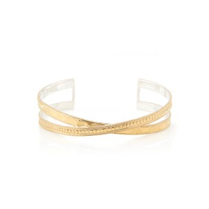 Pacifica Hammered Cross Cuff - Gold