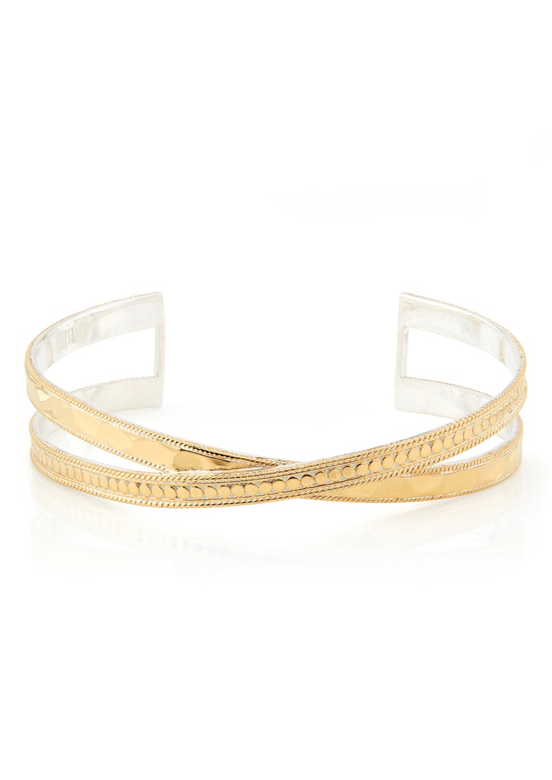 ANNA BECK Pacifica Hammered Cross Cuff - Gold main image