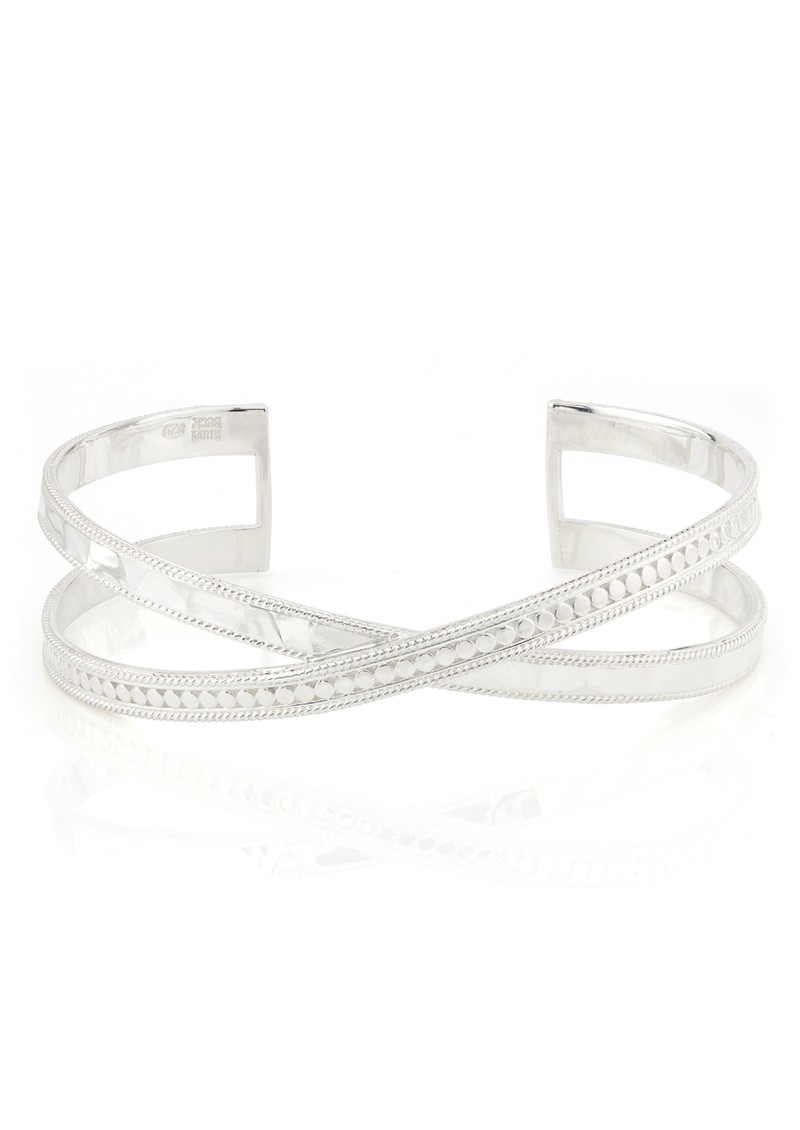 ANNA BECK Pacifica Hammered Cross Cuff - Silver main image