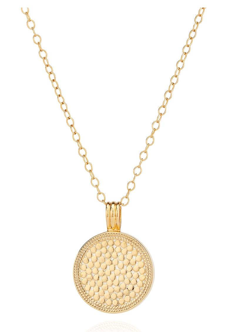 ANNA BECK Pacifica Large Reversible Labradorite Pendant Necklace - Gold main image