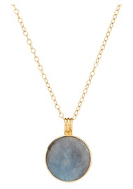 ANNA BECK Pacifica Large Reversible Labradorite Pendant Necklace - Gold