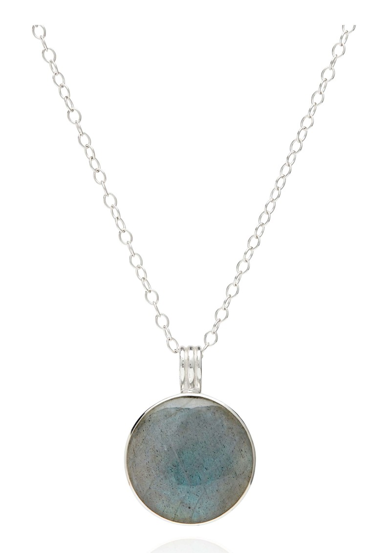 ANNA BECK Pacifica Large Reversible Labradorite Pendant Necklace - Silver main image