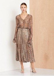 BEC & BRIDGE Kitty Kat Skirt - Leopard