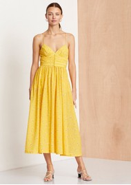 BEC & BRIDGE Marigold Fields Midi Dress - Marigold