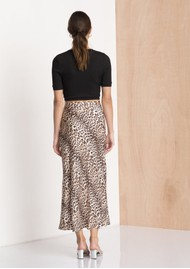 BEC & BRIDGE Feline Midi Skirt - Leopard