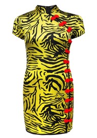 DE LA VALI Suki Short Dress - Tiger