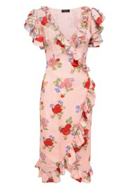 DE LA VALI Cadaques Wrap Dress - Dusty Pink