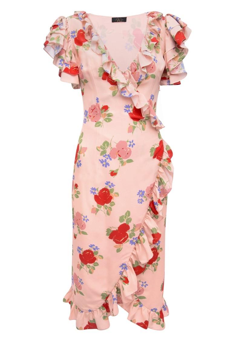 DE LA VALI Cadaques Wrap Dress - Dusty Pink main image
