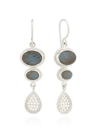 ANNA BECK Pacifica Labradorite Multi Stone Drop Earrings - Silver
