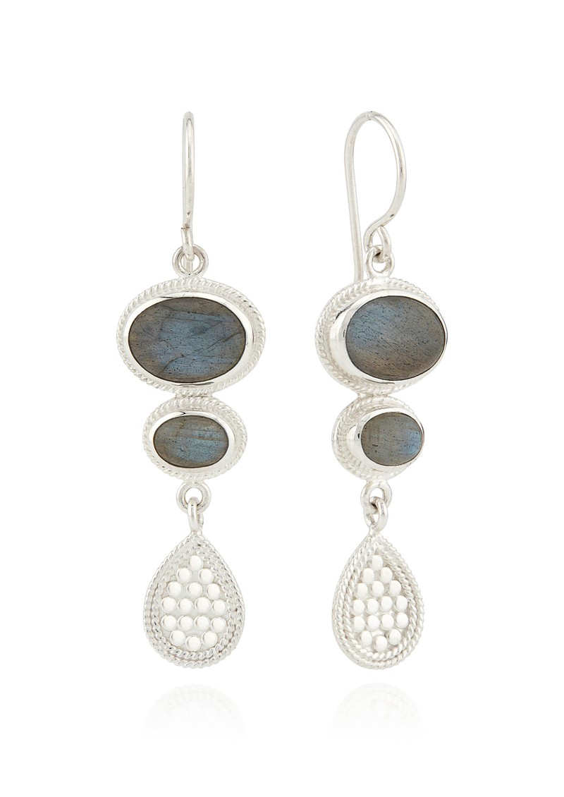 ANNA BECK Pacifica Labradorite Multi Stone Drop Earrings - Silver main image