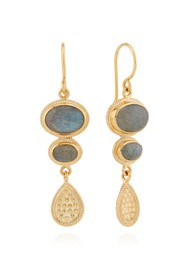 ANNA BECK Pacifica Labradorite Multi Stone Drop Earrings - Gold