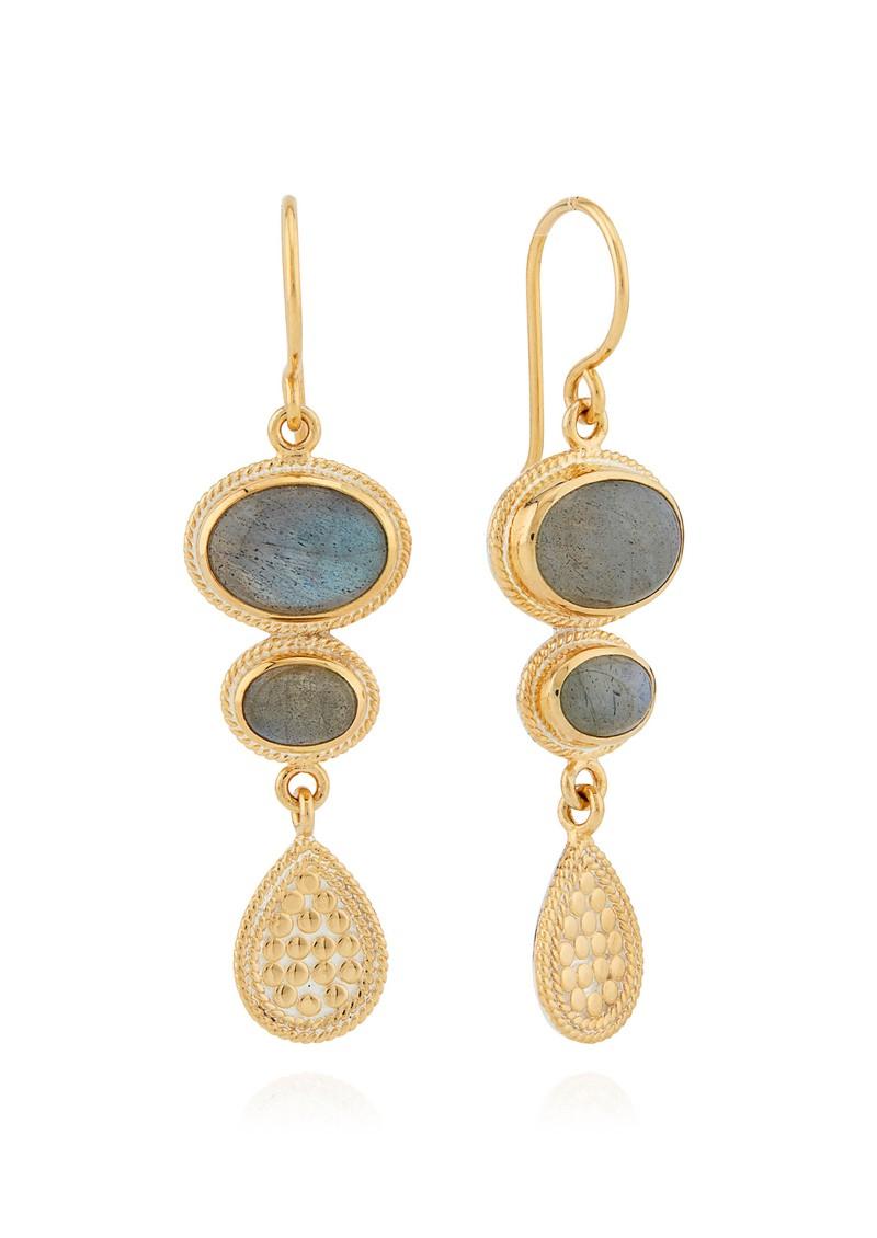 ANNA BECK Pacifica Labradorite Multi Stone Drop Earrings - Gold main image