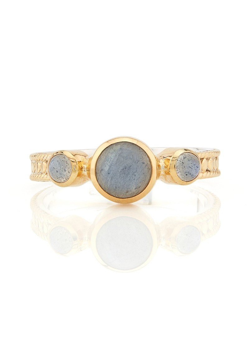 ANNA BECK Labradorite Triple Stone Stacking Ring - Gold main image