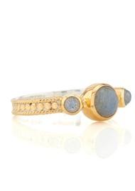 ANNA BECK Labradorite Triple Stone Stacking Ring - Gold