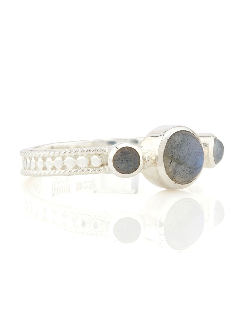Labradorite Triple Stone Stacking Ring - Silver main image