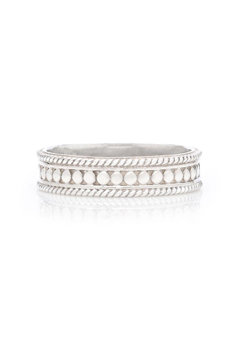 ANNA BECK Dotted Stacking Ring - Silver main image