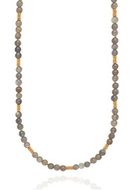 ANNA BECK Long Labradorite Beaded Stacking Necklace - Gold & Labradorite