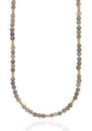 ANNA BECK Long Labradorite Beaded Stacking Necklace - Gold & Labradorite