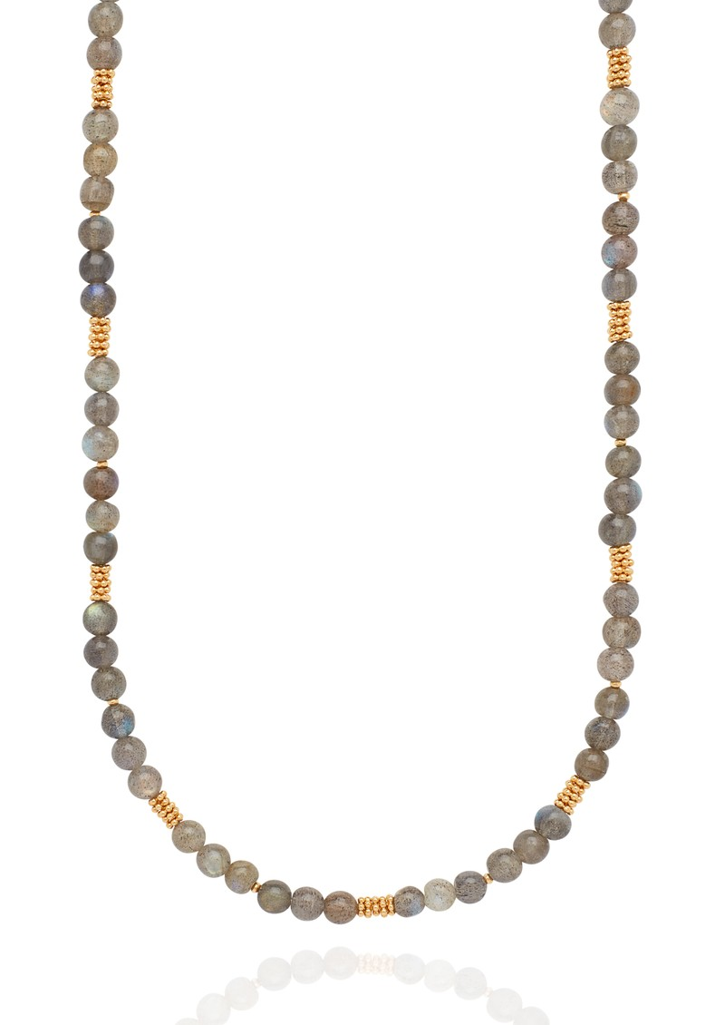 ANNA BECK Long Labradorite Beaded Stacking Necklace - Gold & Labradorite main image