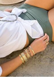 ANNA BECK Labradorite Double Beaded Stacking Bracelet - Gold & Labradorite