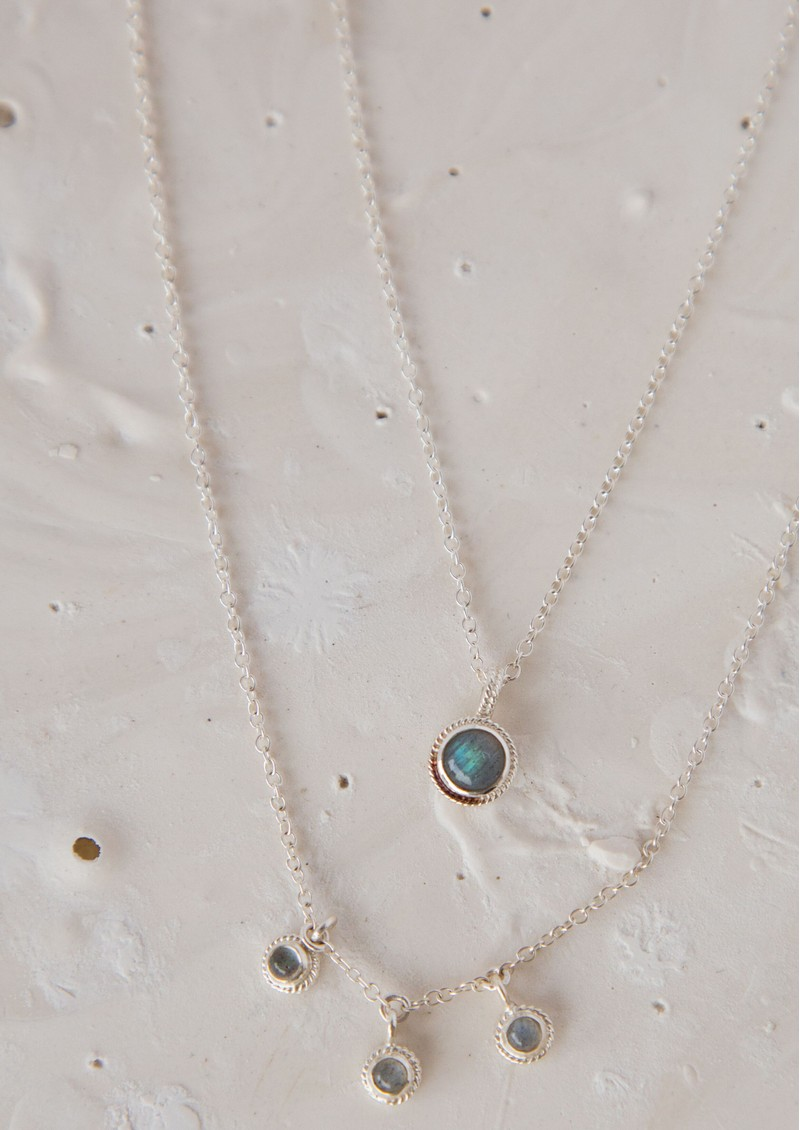 ANNA BECK Labradorite Single Pendant Necklace - Silver & Labradorite main image