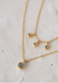 ANNA BECK Labradorite Triple Stone Stacking Necklace - Gold & Labradorite
