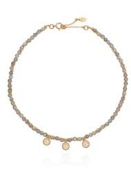ANNA BECK Triple Labradorite Disc Choker - Gold