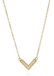 ANNA BECK Mini Arrow Reversible V Necklace - Gold