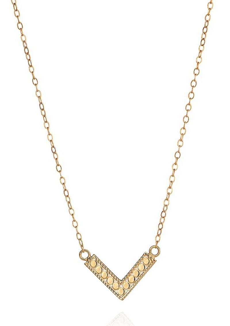ANNA BECK Mini Arrow Reversible V Necklace - Gold main image