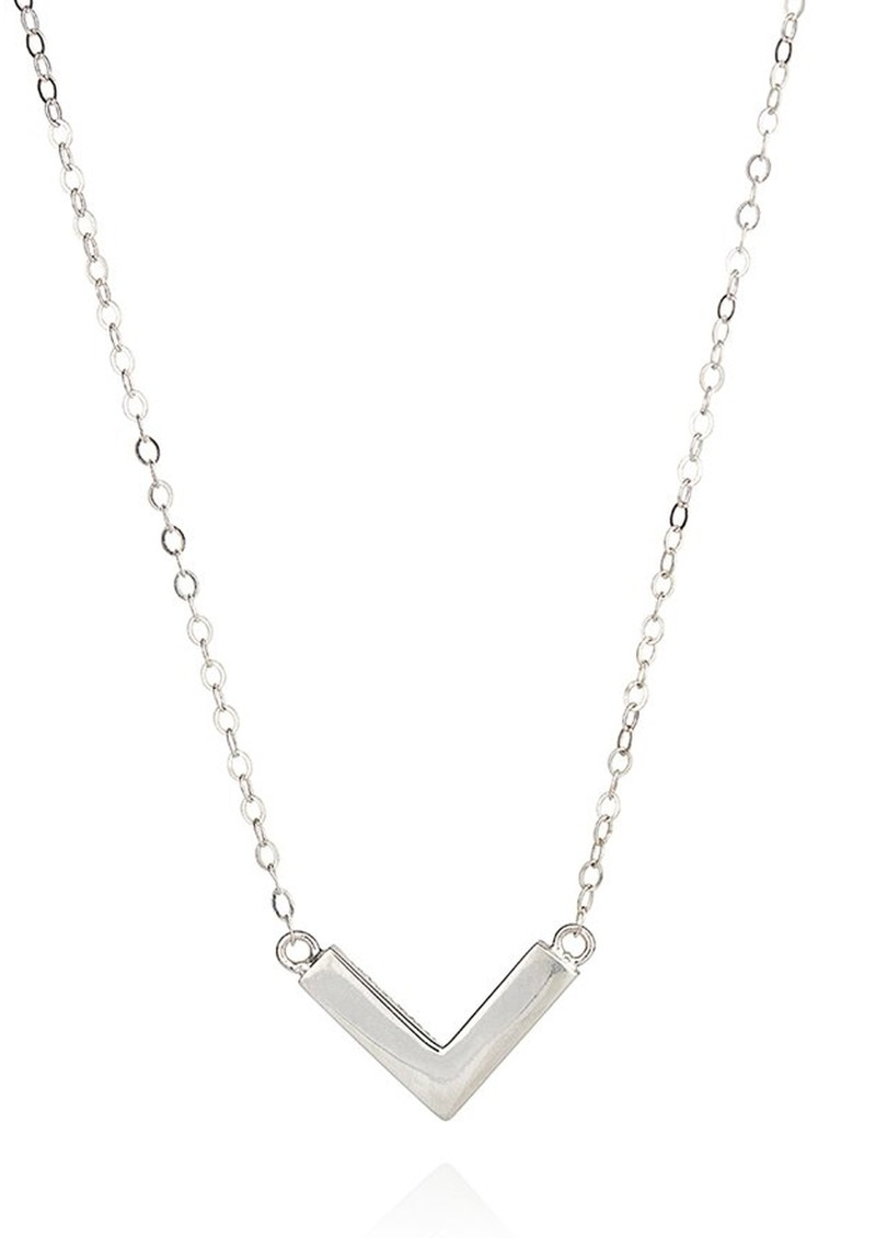 ANNA BECK Mini Arrow Reversible V Necklace - Silver main image